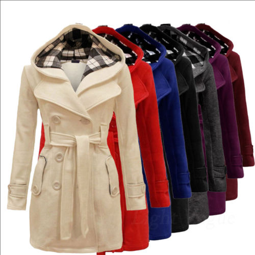 Hot Fashion Womens Long Section Warm Outwear Winter Parka Jacket Hooded Coat PD