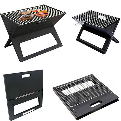 Portable Notebook Folding Barbecue Grill BBQ Picnic Travel Camping Garden Travel