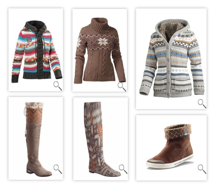 Рисунок оленя в вязании свитера